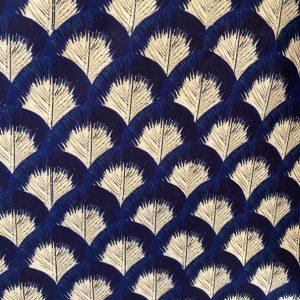 maglia foglie blu