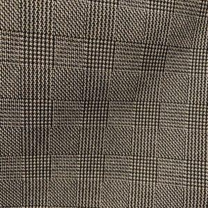 Tessuto stretch lurex Principe di Galles bianco/ nero