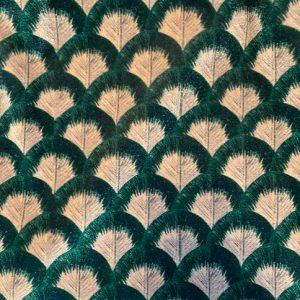 Velluto fant foglie verdi